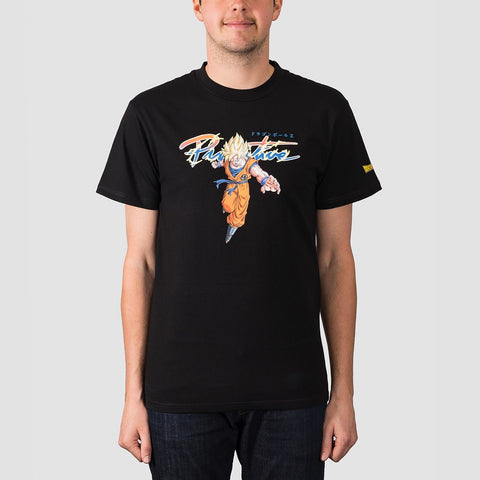 Primitive X Dragon Ball Z Intl Nuevo Goku Saiyan Tee Black