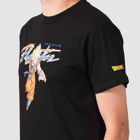 Primitive X Dragon Ball Z Intl Nuevo Goku Saiyan Tee Black - Clothing