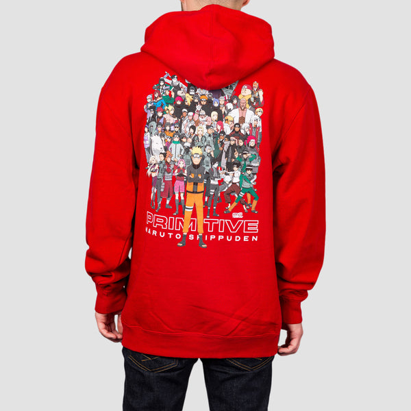 Primitive X Naruto Shippuden II Pullover Hood Red