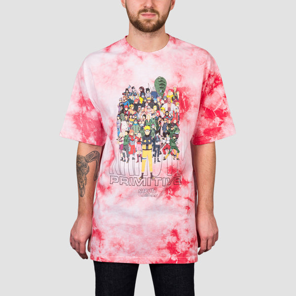 Primitive X Naruto Shippuden Washed Tee Red
