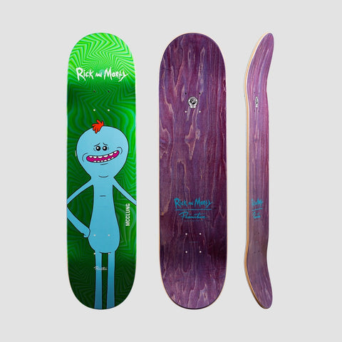 Primitive X Rick & Morty McClung Mr Meeseeks Deck Green Foil - 8 - Skateboard