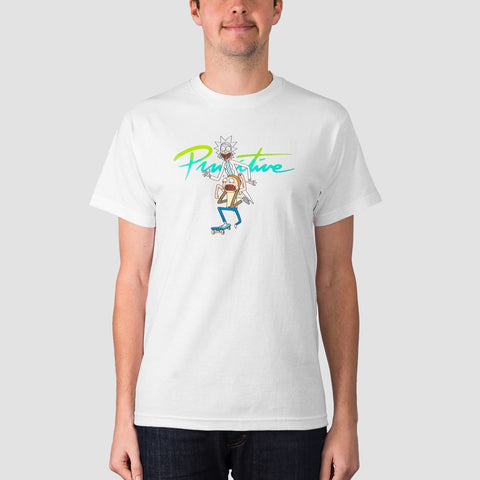 Primitive X Rick & Morty Nuevo Skate Tee White