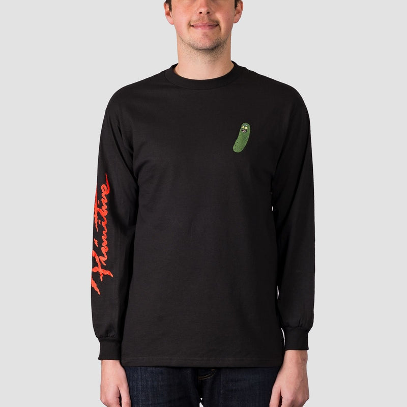 Primitive X Rick & Morty Pickle Rick Long Sleeve Tee Black - Clothing