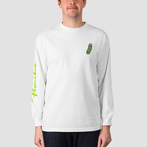Primitive X Rick & Morty Pickle Rick Long Sleeve Tee White - Clothing
