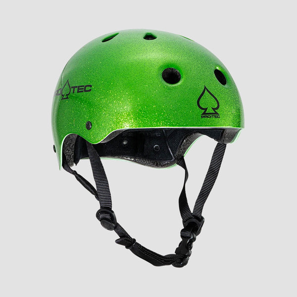 Protec Classic Certified Helmet Candy Green Flake