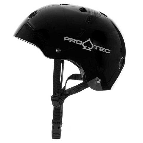 Protec Classic Certified Helmet Gloss Black - Safety Gear