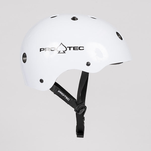 Protec Classic Certified Helmet Gloss White - Safety Gear
