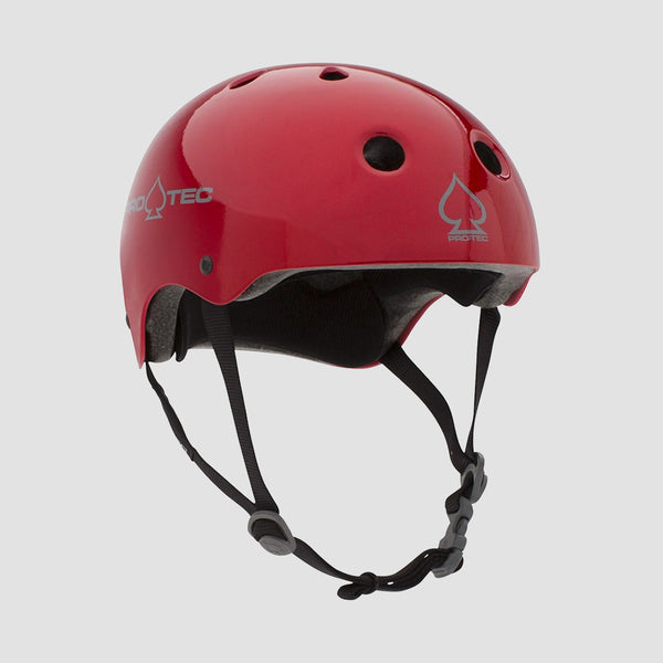 Protec Classic Certified Helmet Red Metal Flake