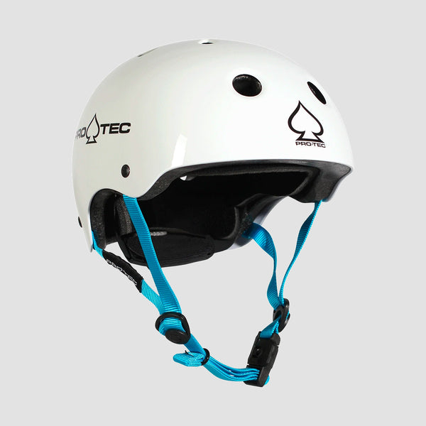 Protec Classic Fit Certified Helmet Gloss White - Kids