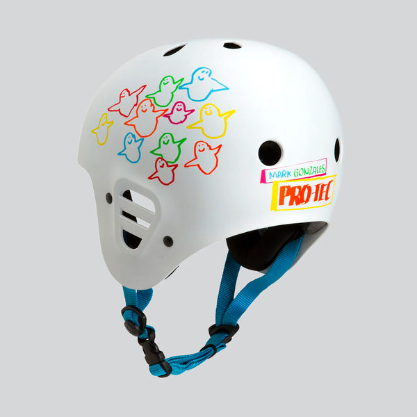 Protec Full Cut Certified Gonz Animal Bird Helmet White