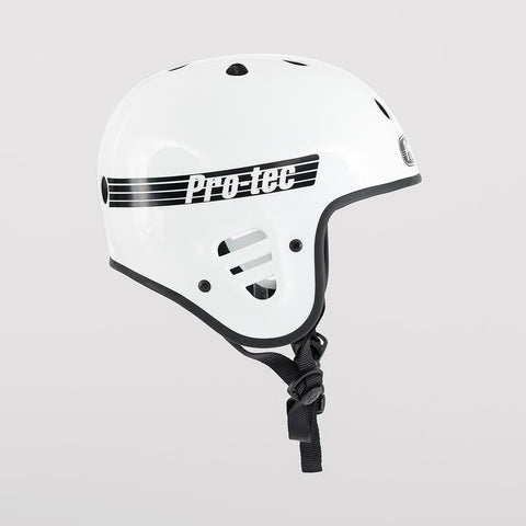 Protec Full Cut Certified Helmet Gloss White