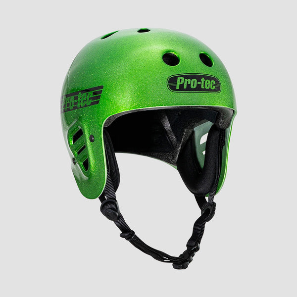 Protec Full Cut Certified Helmet Green Candy Flake
