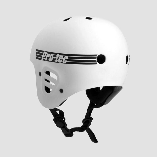 Protec Full Cut Certified Helmet Matte White