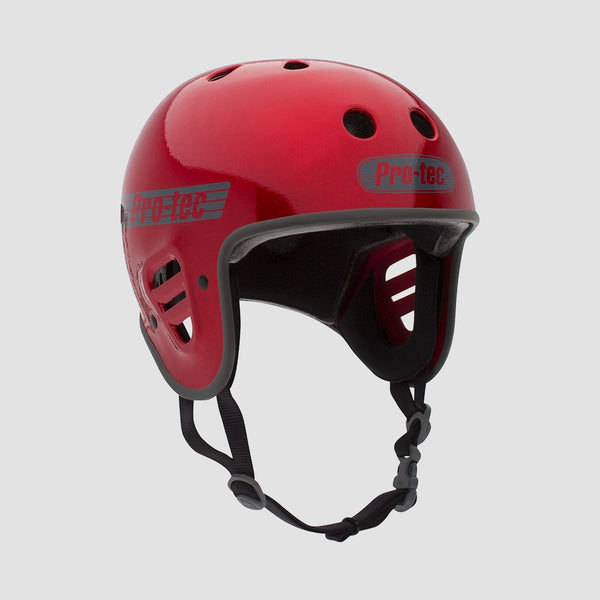 Protec Full Cut Certified Helmet Red Metal Flake