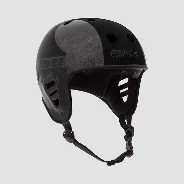 Protec Full Cut Certified Hosoi Helmet Metallic Black