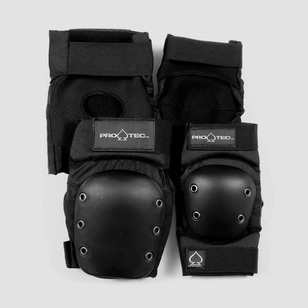 Protec Knee And Elbow Street Pad Set Black - Safety Gear