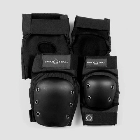 Protec Knee And Elbow Street Pad Set Black
