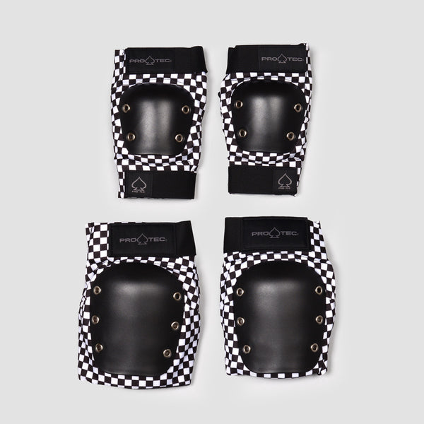 Protec Knee And Elbow Street Pad Set Checker