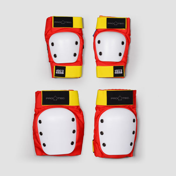 Protec Knee And Elbow Street Pad Set Retro