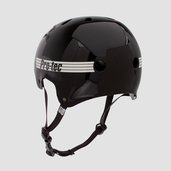 Protec Old School Certified Helmet Gloss Black