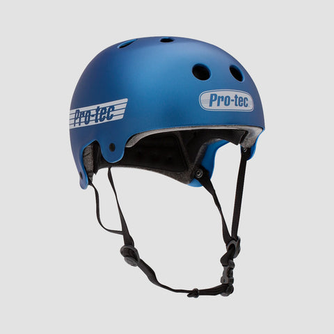 Protec Old School Certified Helmet Matte Metallic Blue