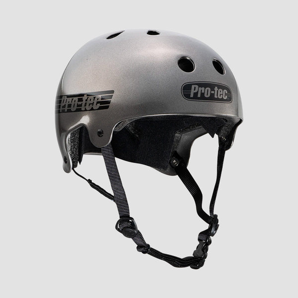 Protec Old School Certified Helmet Matte Metallic Gunmetal