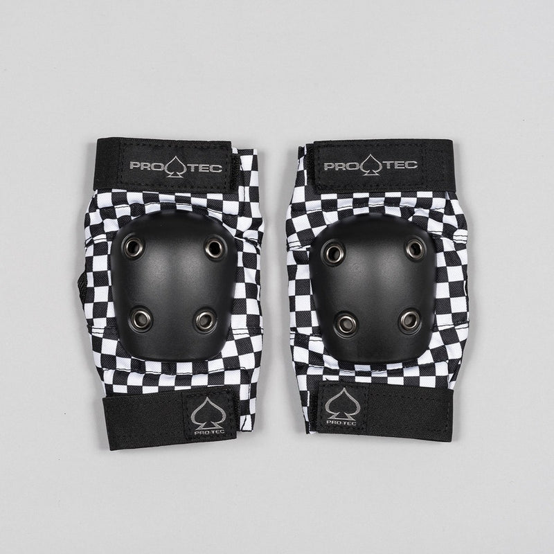Protec Street Elbow Pads Checker Black/White - Kids - Safety Gear