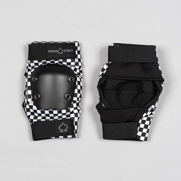 Protec Street Elbow Pads Checker Black/White - Safety Gear