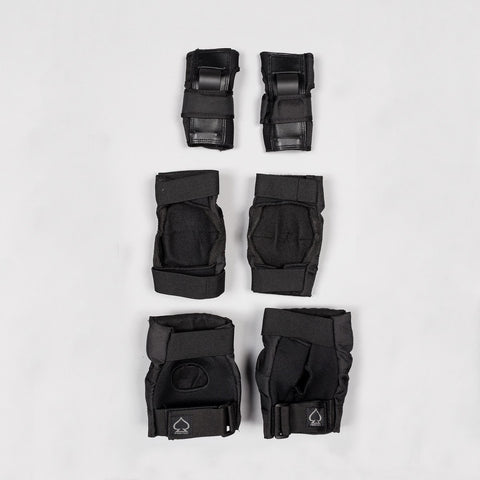 Protec Street Gear Pads 3-Pack Black - Kids - Safety Gear