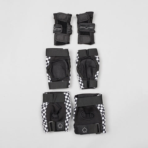 Protec Street Gear Pads 3-Pack Checker - Kids - Safety Gear