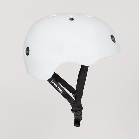 Protec Street Lite Helmet Gloss White - Safety Gear