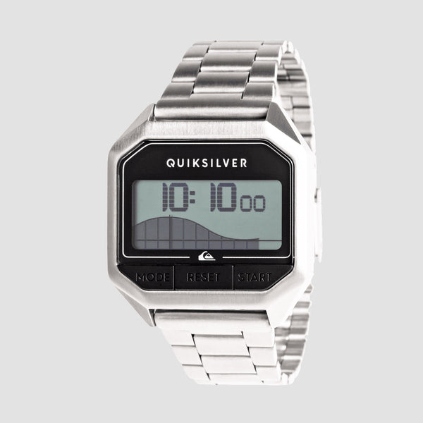 Quiksilver Addictiv Pro Tide Metal Digital Watch Silver