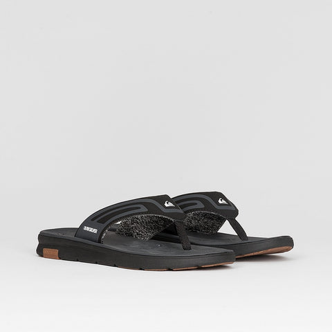 Quiksilver Amphibian Plus Sandals Black/Black/Grey - Footwear