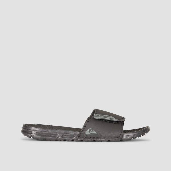 Quiksilver Amphibian Slider Sandals Black/Black/Grey - Footwear