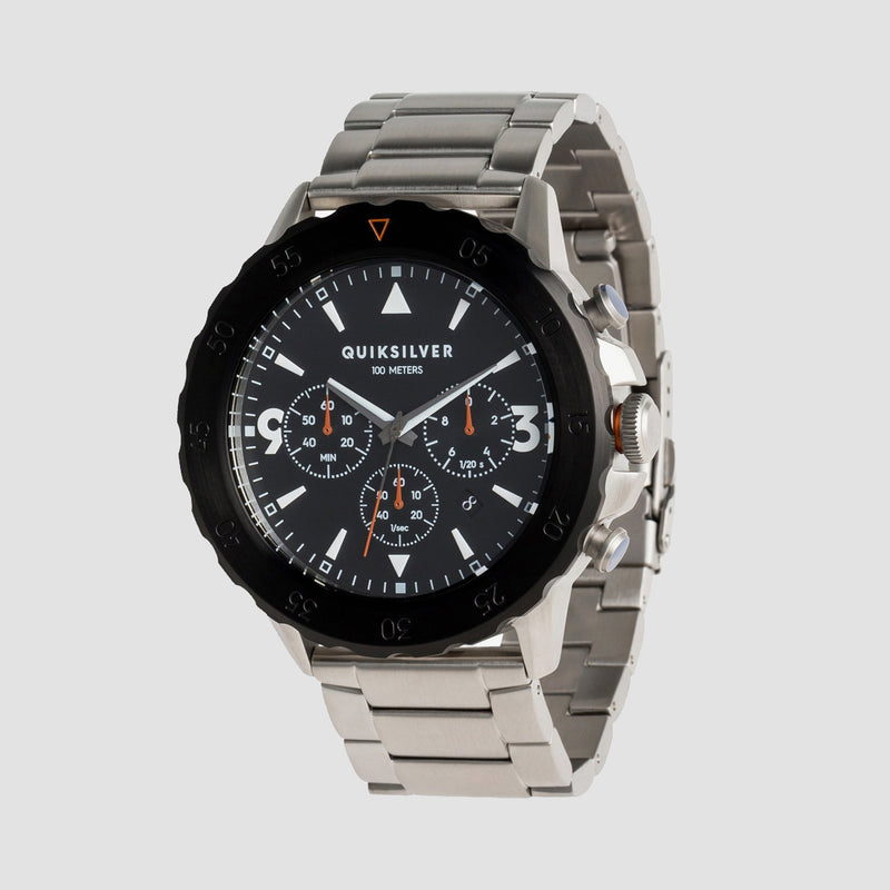 Quiksilver B-52 Chrono Metal Watch Silver