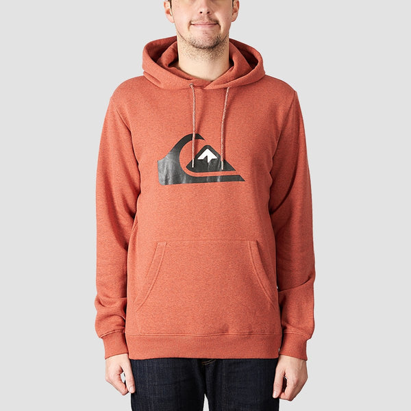 Quiksilver Big Logo Pullover Hood Barn Red Heather - Clothing