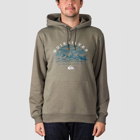 Quiksilver Big Logo Snow Pullover Hood Agave Green
