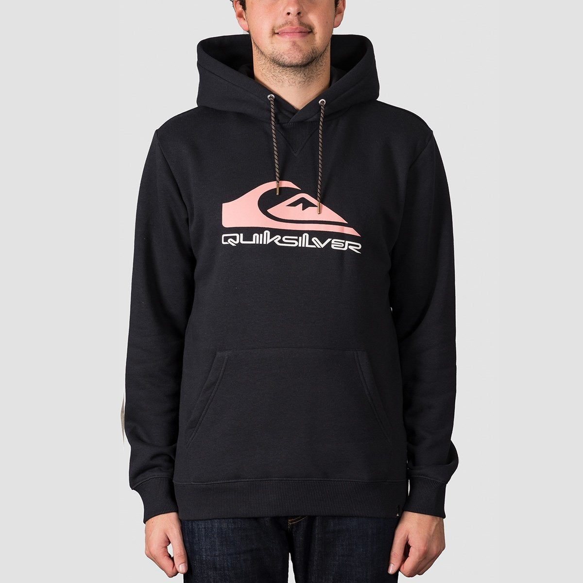 Quiksilver Big Logo Snow Pullover Hood Black Anniversary - Snowboard
