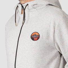 Quiksilver Big Logo Snow Zip Hood Light Grey Heather - Snowboard