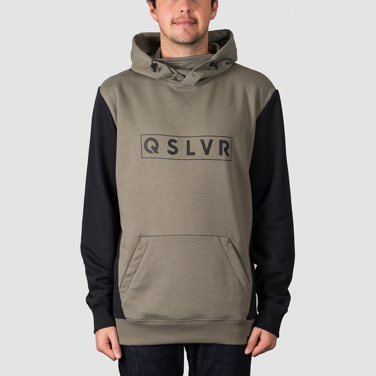 Quiksilver Big Logo Tech Pullover Hood Agave Green - Snowboard