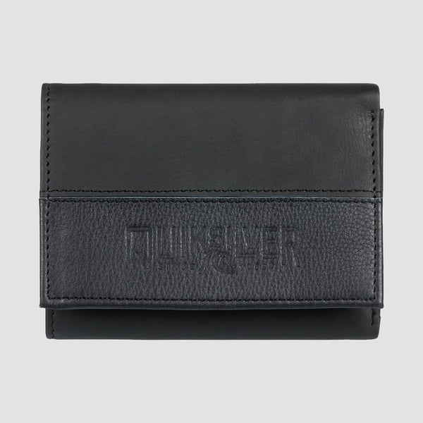 Quiksilver Bonzo Cruella Leather Tri-Fold Wallet Black