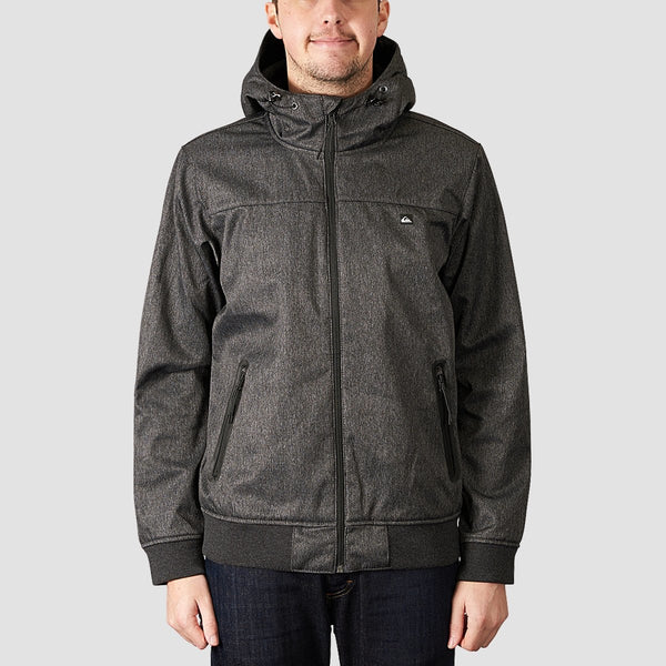 Quiksilver Brooks Bonded Waterproof Softshell Jacket Dark Grey Heather - Clothing