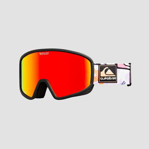 Quiksilver Browdy 50th Pack Snow Goggles Black Warpaint