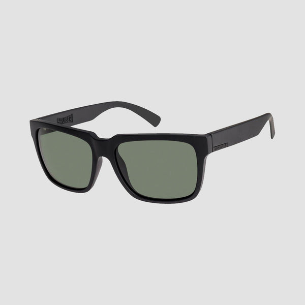 Quiksilver Bruiser Premium Sunglasses Matte Black/Mineral Glass Green Polarised