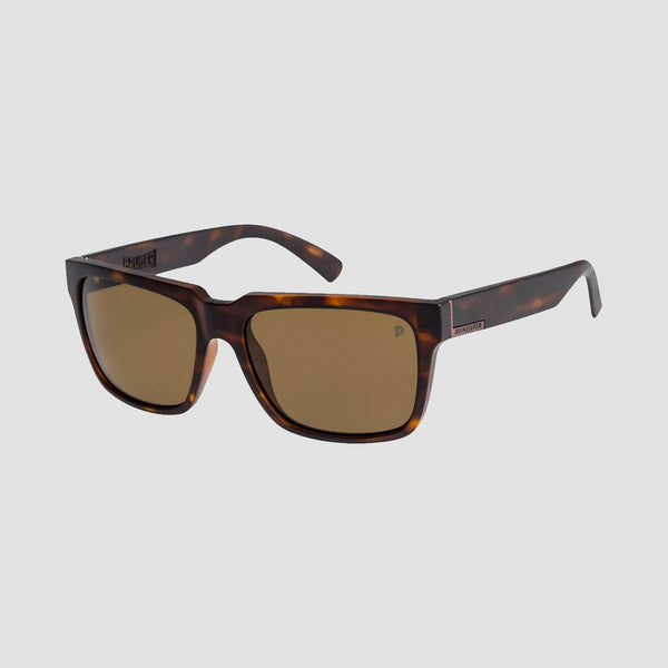 Quiksilver Bruiser Sunglasses Matte Tortoise/Brown Polarised