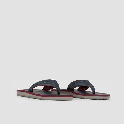 Quiksilver Carver Nubuck Sandals Blue/Red/Grey - Footwear