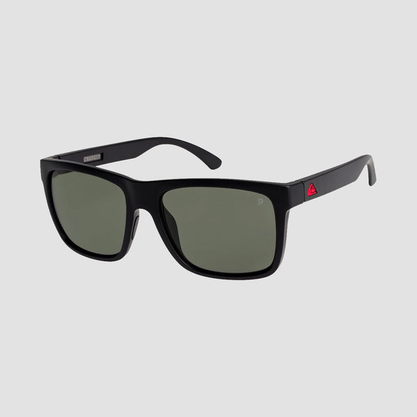 Quiksilver Charger Floatable Sunglasses Matte Black/Green Polarised