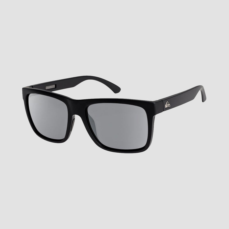 Quiksilver Charger Sunglasses Matte Black/Flash Silver