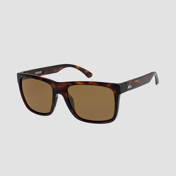 Quiksilver Charger Sunglasses Matte Tortoise/Brown Polarised