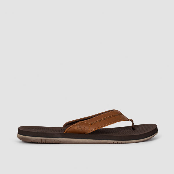 Quiksilver Coastal Oasis Deluxe Leather Sandals Brown/Brown/Brown